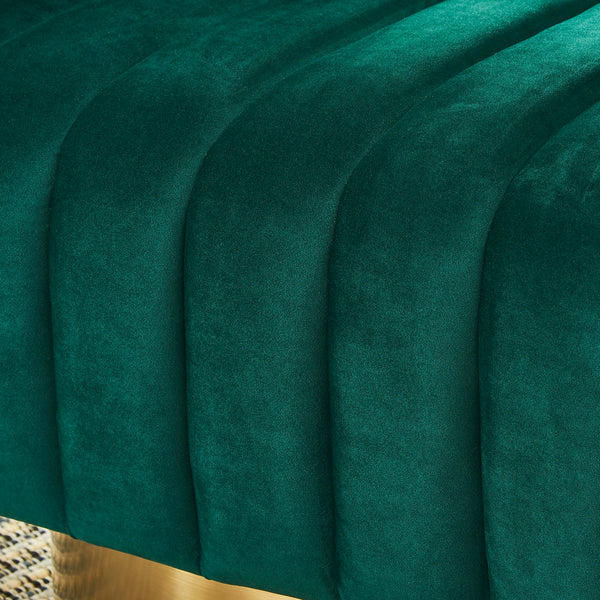 Oyster Accent Chair (Green/Gold)
