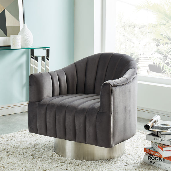 Haddock Accent Chair (Grey/Silver)