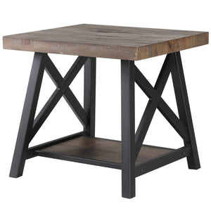 Langport Accent Table in Rustic Oak