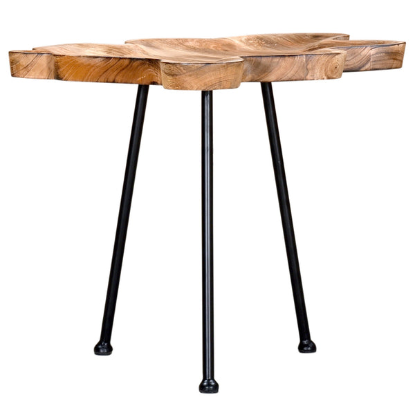 Pari Accent Table in Natural with Black Legs