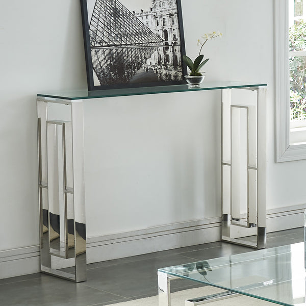 Eros Console Table in Silver