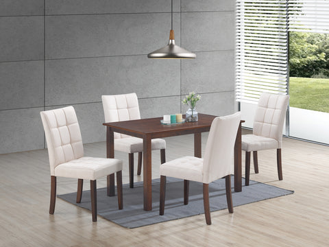 Clare Beige 5 Pc. Dining Set