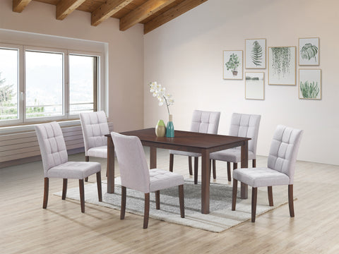 Clare Light Grey 7 Pc. Dining Set