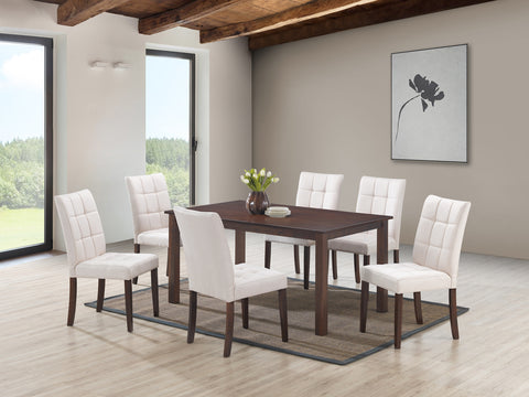 Clare Beige 7 Pc. Dining Set