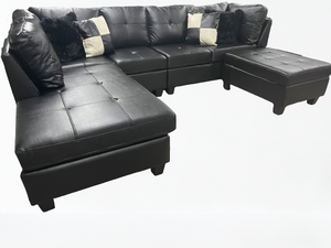 College Sectional (Gel Black)