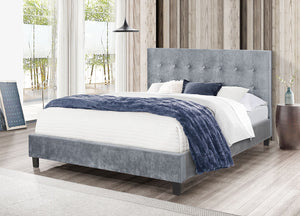 Glare Bed Velvet Grey