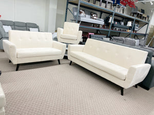 Grace Living Room Set Ivory (special)