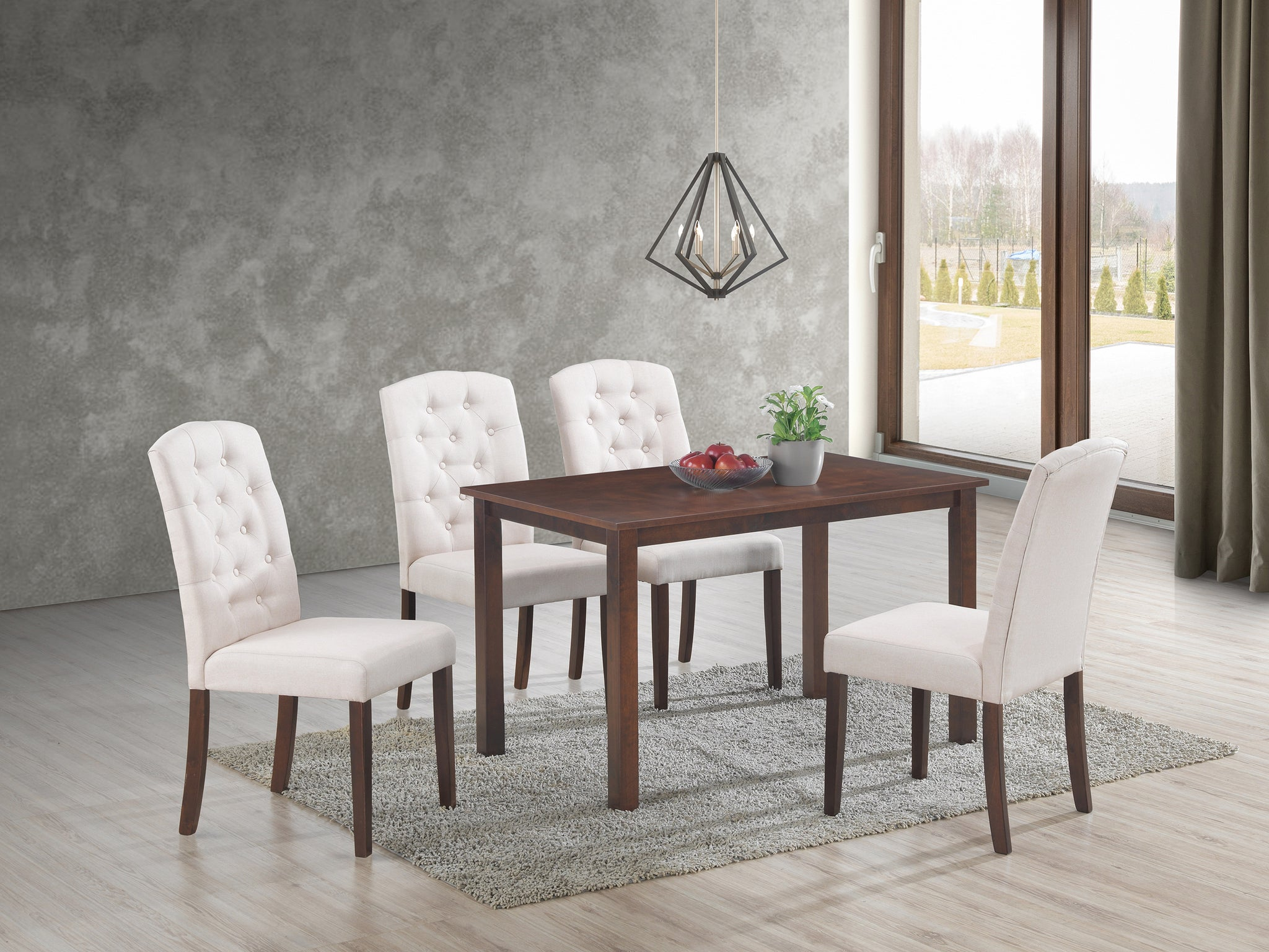 Ingrid Beige 5 Pc. Dining Set