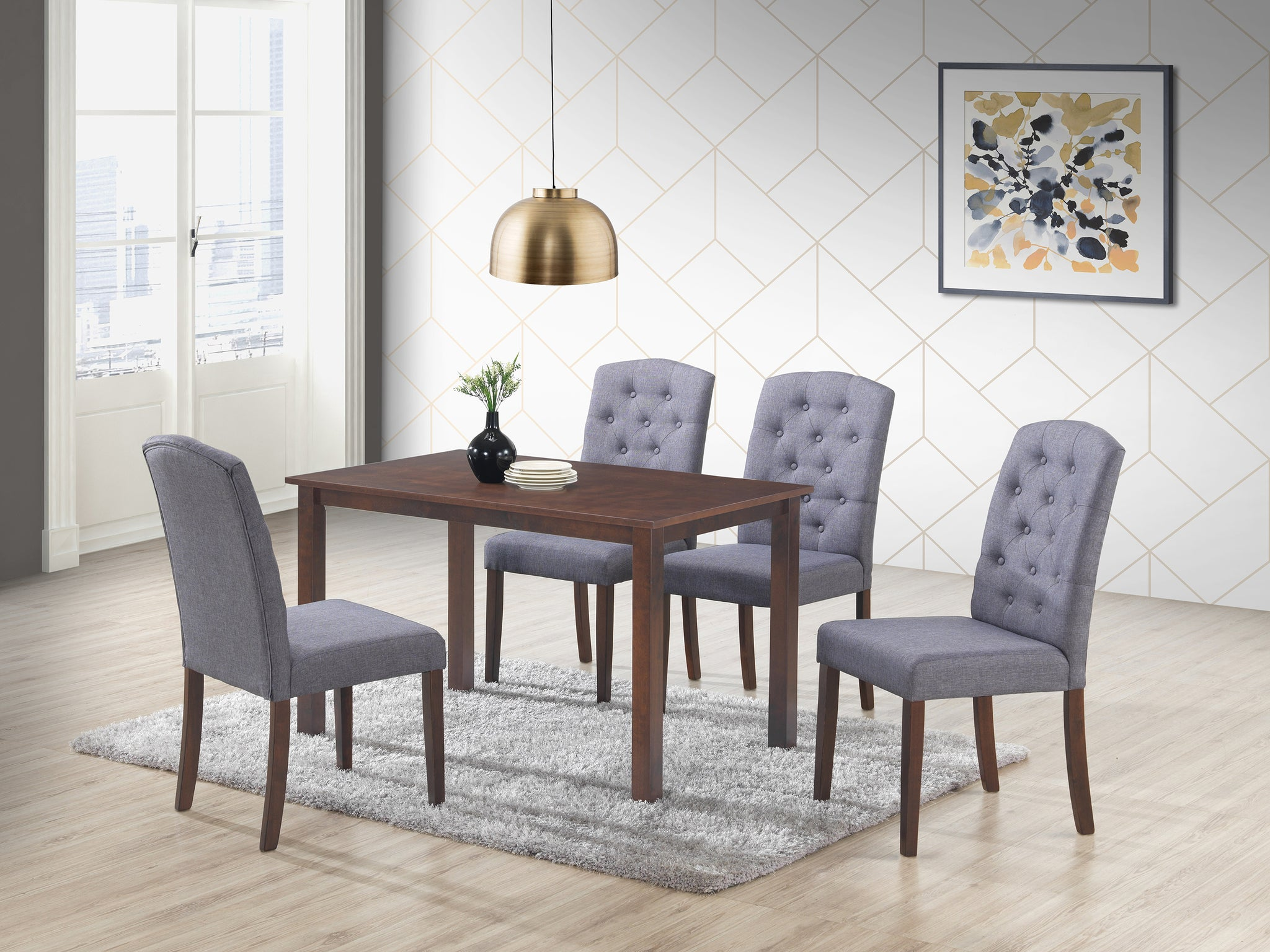 Ingrid Dark Grey 5 Pc. Dining Set
