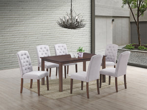 Ingrid Light Grey 7 Pc. Dining Set