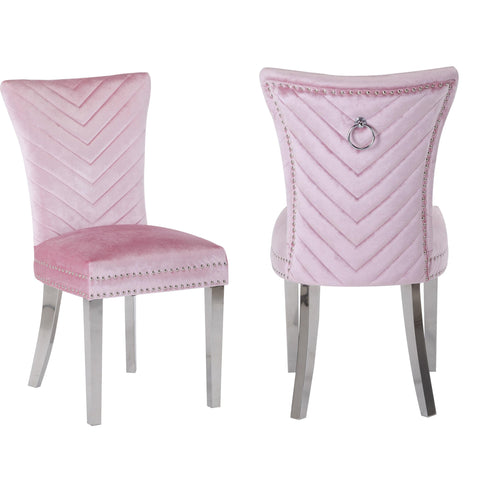 Ivo Side Chair in Pink