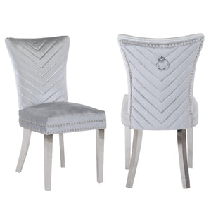 Ivo Side Chair in Silver
