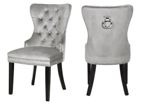 Olive Side Chair in Metallic Grey