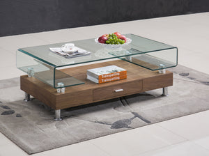 Oscar Large Walnut Coffee Table