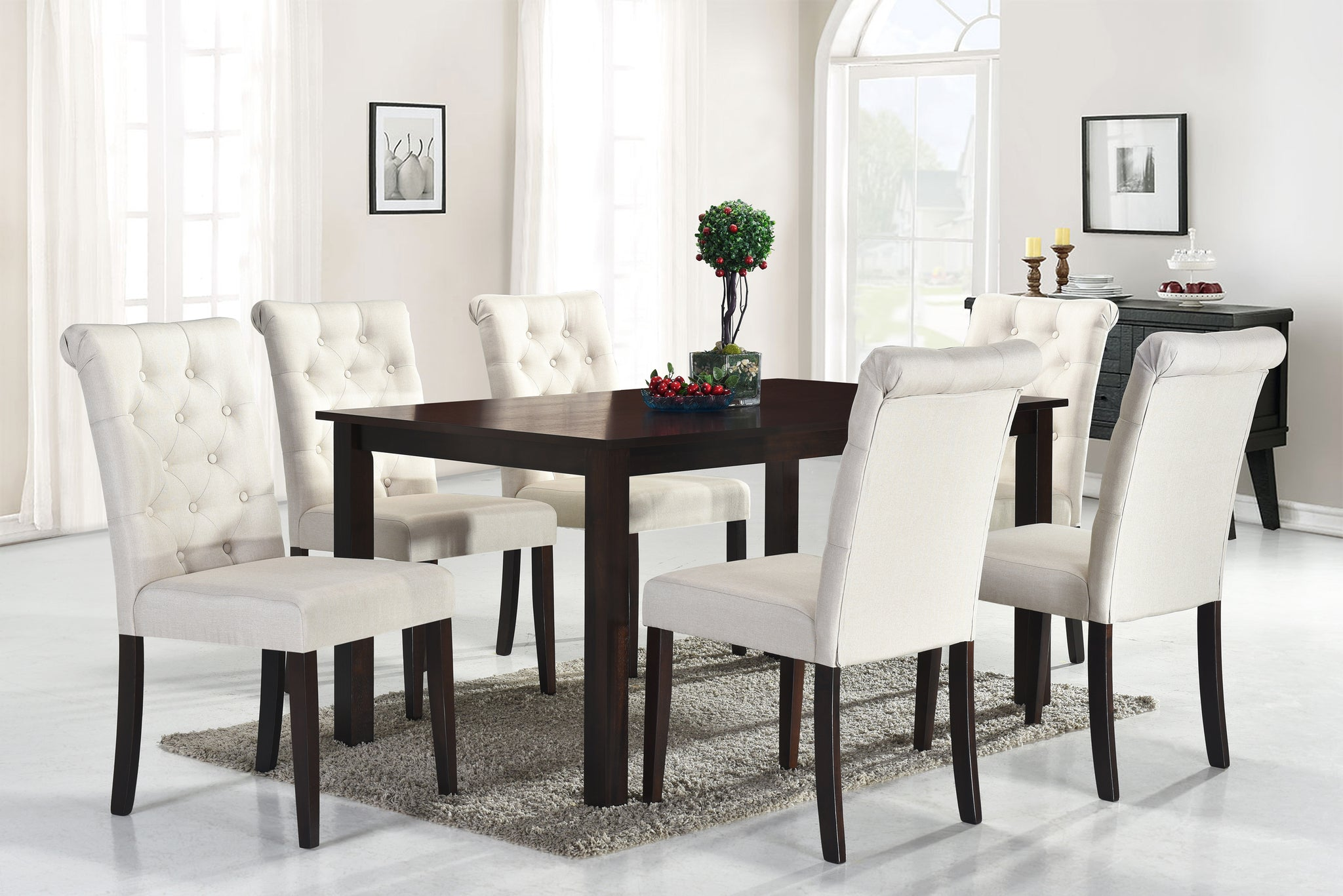 Roxy Beige 7 Pc. Dining Set