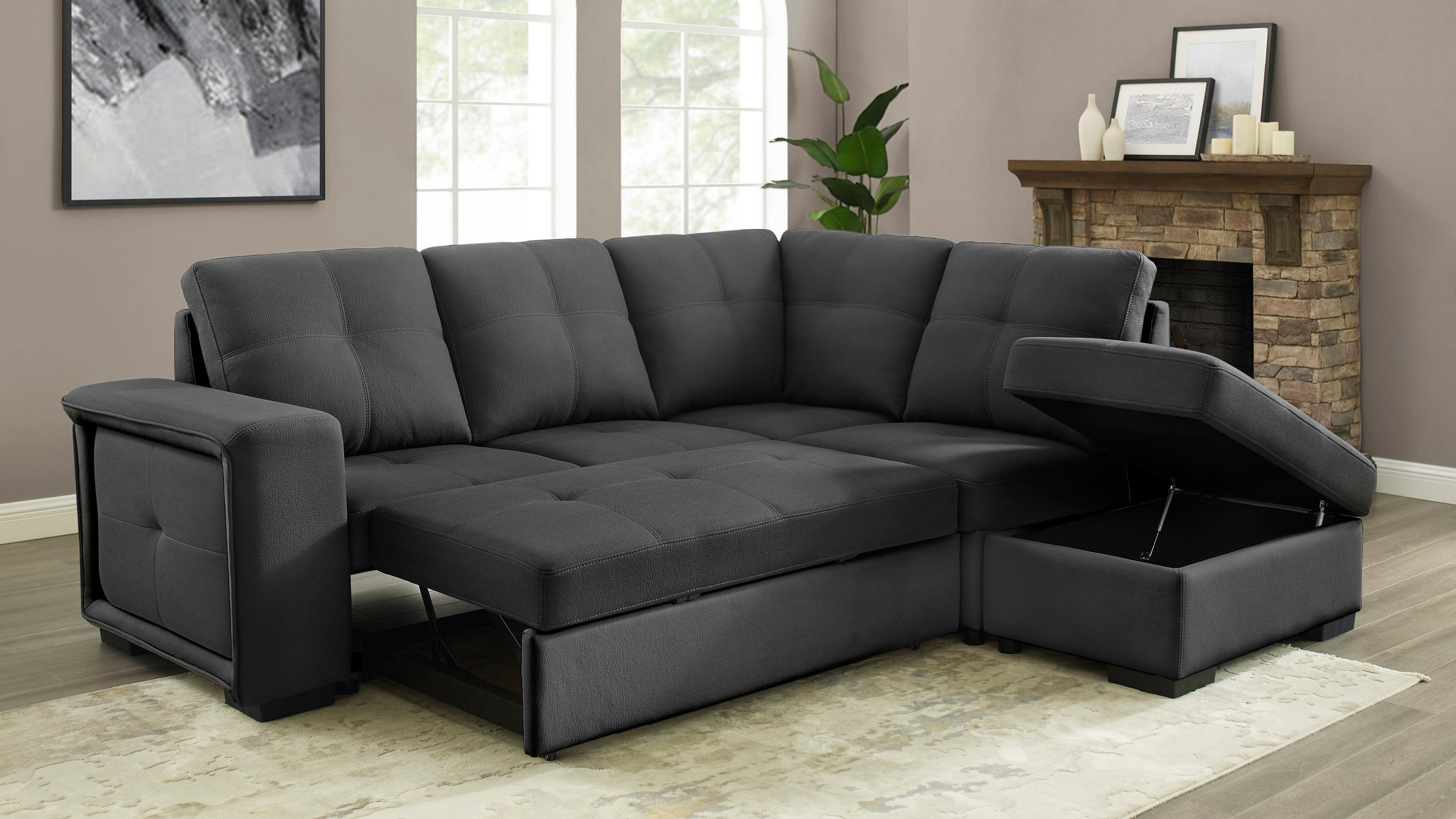 Soho Sofa Bed Sectional (RHF)