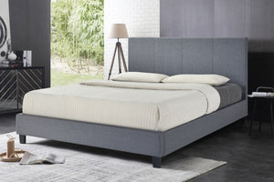 Uptown Bed Grey Fabric