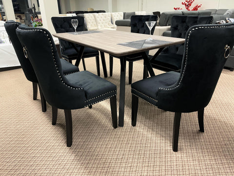 WLL Black 7pc Dining Set (special)