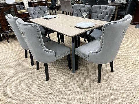 WLL Grey 7pc Dining Set (special)