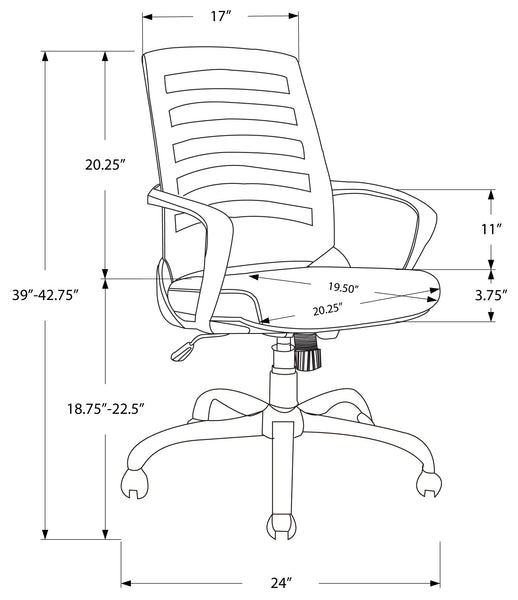I 7225 OFFICE CHAIR