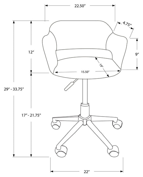 I 7298 OFFICE CHAIR