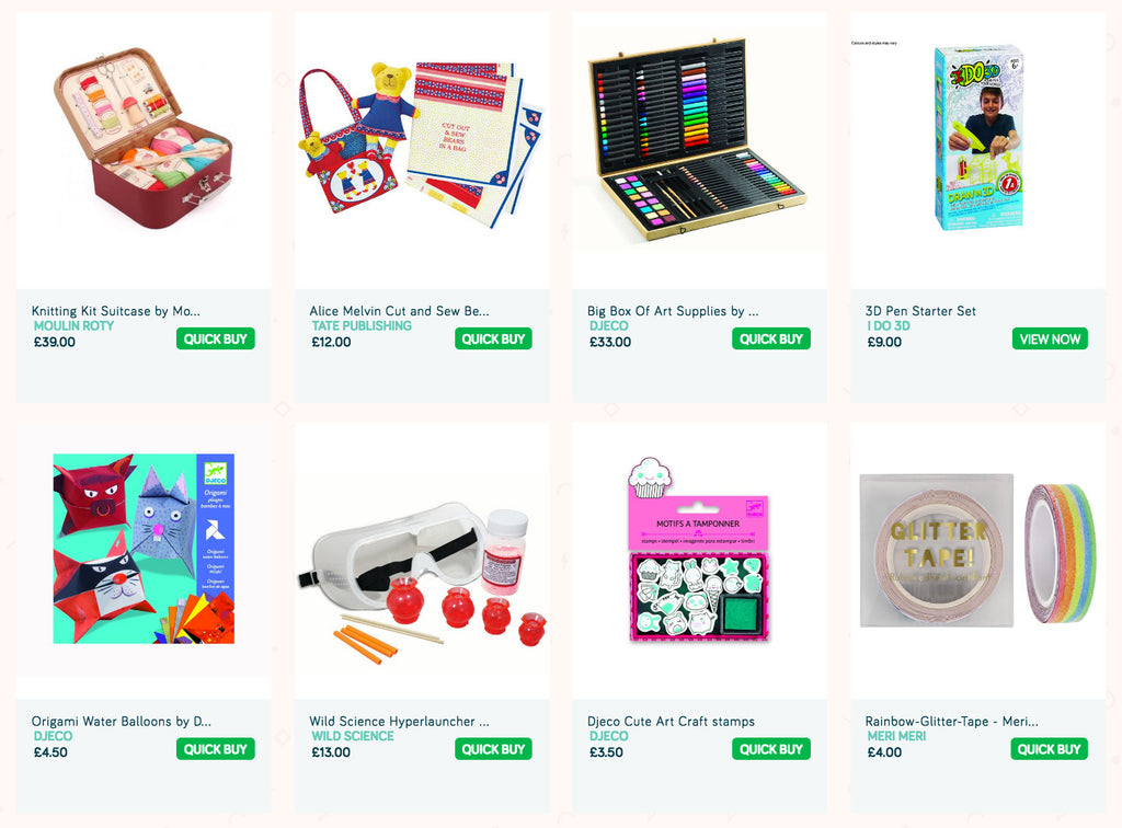 The best Arts and Crafts kits and sets for kids and children for sale on Little Citizens Boutique