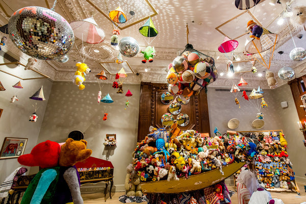 Charlemagne Palestine art exhibit of teddy bears at the Jewish Museum in NYC