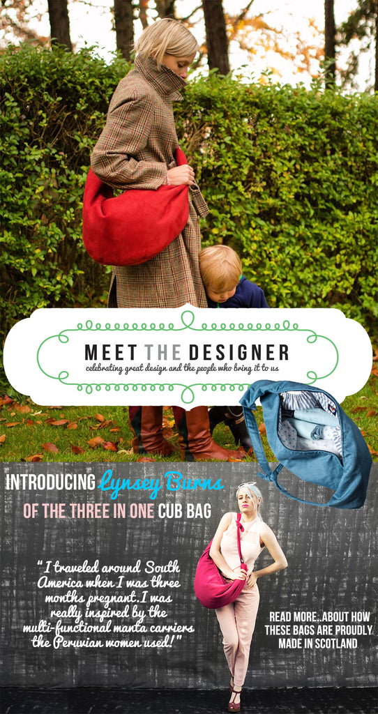 Interview with Lynsey Burns founder of fashionable and practical Baby Changing Bag brand Cub Bag