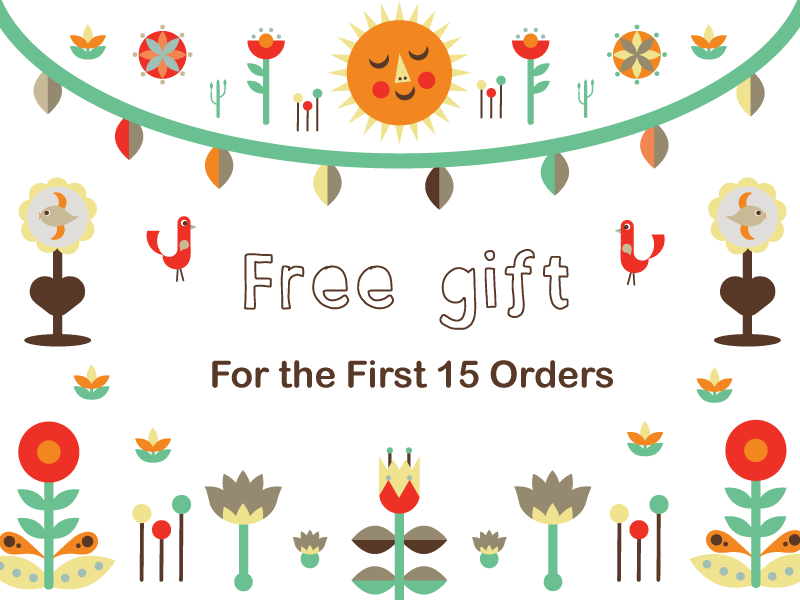 Free Gift by amazing design Aine O'Hagan for first 15 orders