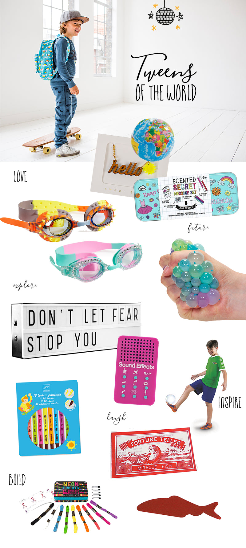 Tween Gift Guide this Christmas Inspiration from a unique toy store