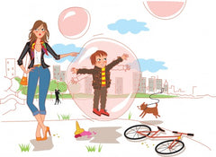 Helicopter parenting is like putting your kid in a bubble