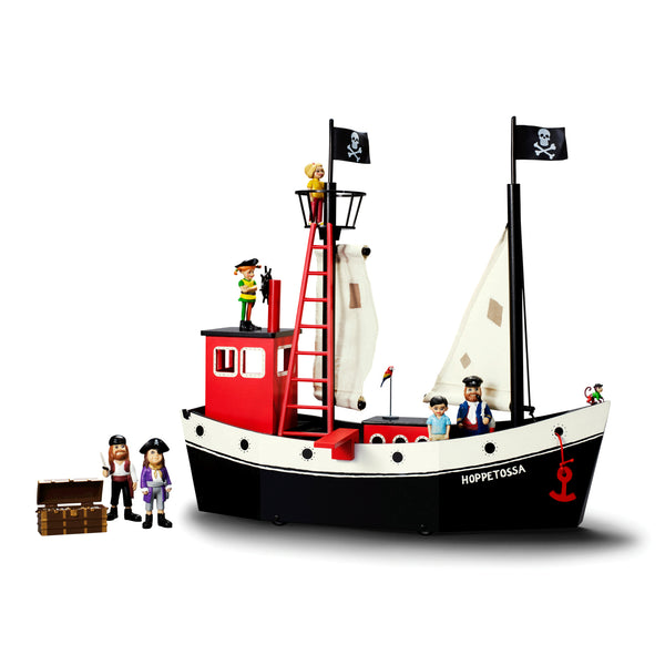 Hoppetossa Pippi Longstocking's father ship, captain of the pirate ship. Toys for sale.