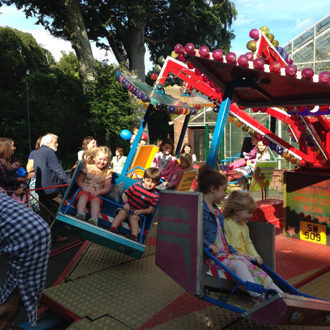 Amusement rides bring happiness to kids