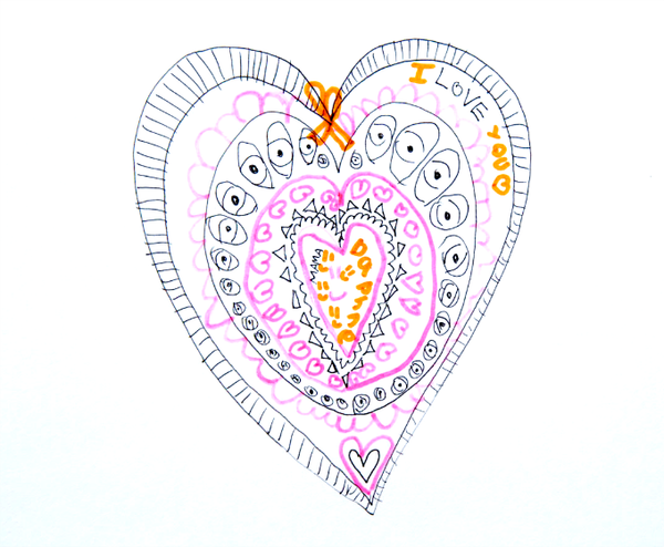 Heart Drawing Mandala Art Activity for Valentines Day