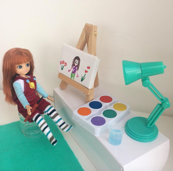 Lottie Dolls drawing creativity colours art for sale on Little Citizens