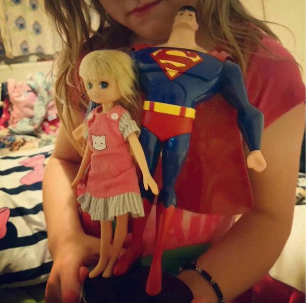 Lottie Dolls supergirl superman friends power strength for sale on Little Citizens