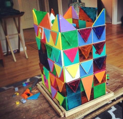 We think this child's Magna Tiles work is a sign that they'll grow up to be an architect