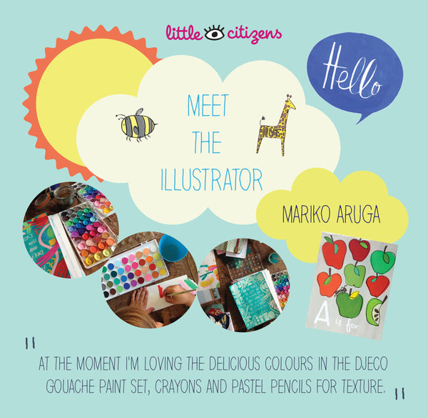 Meet the Illustrator Mariko Aruga an exclusive interview and images of her work at Little Citizens Boutique