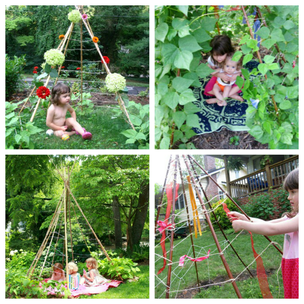 How to make a Bean Pole Teepee instructions at Artful Parent via Little Citizens Boutique