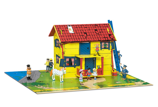 Pippi Longstocking Play Dollhouse with Figurines