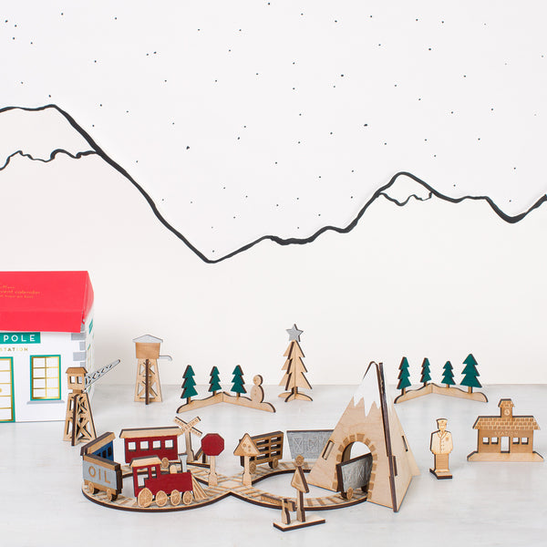 Railway Advent Calendar by Meri Meri for sale online at Little Citizens Boutique