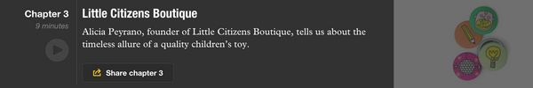 Alicia Peyrano from Little Citizens Boutique talks toys on Monocle Radio with Daniel Giacopelli