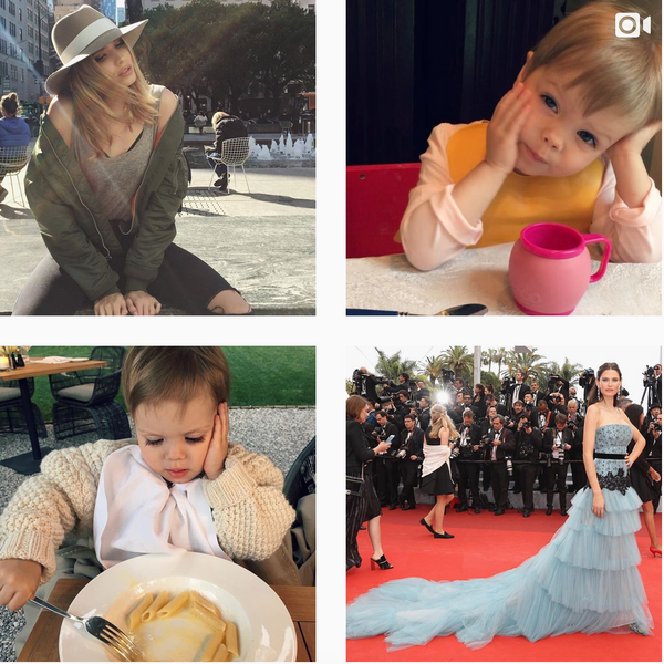 The top model Lena's Instagram with her children is eye watering beautiful