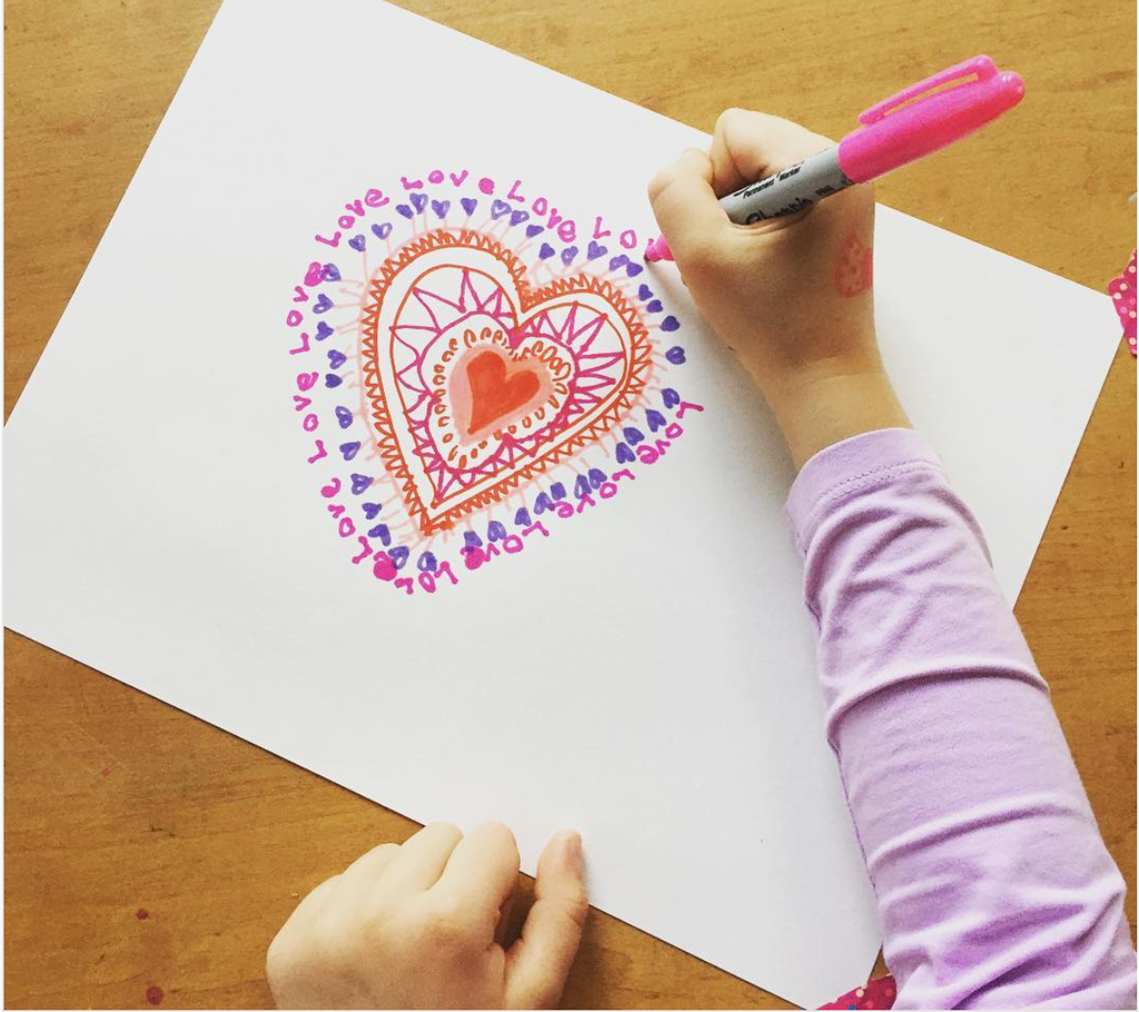 Heart Mandala Art Activity for Valentines Day