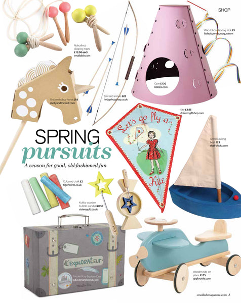 Smallish Magazine Spring Toys include Little Citizens Boutique