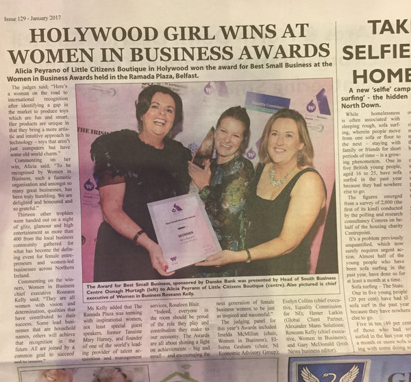 Little Citizens Wins Women in Business Award Best Small Business