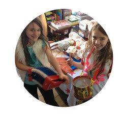 Girls playing with toys at Little Citizens Boutique