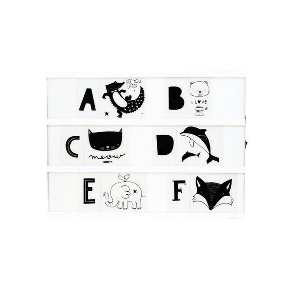 ABC's letters and animals for Little Lovely Company Lightbox at Little Citizens