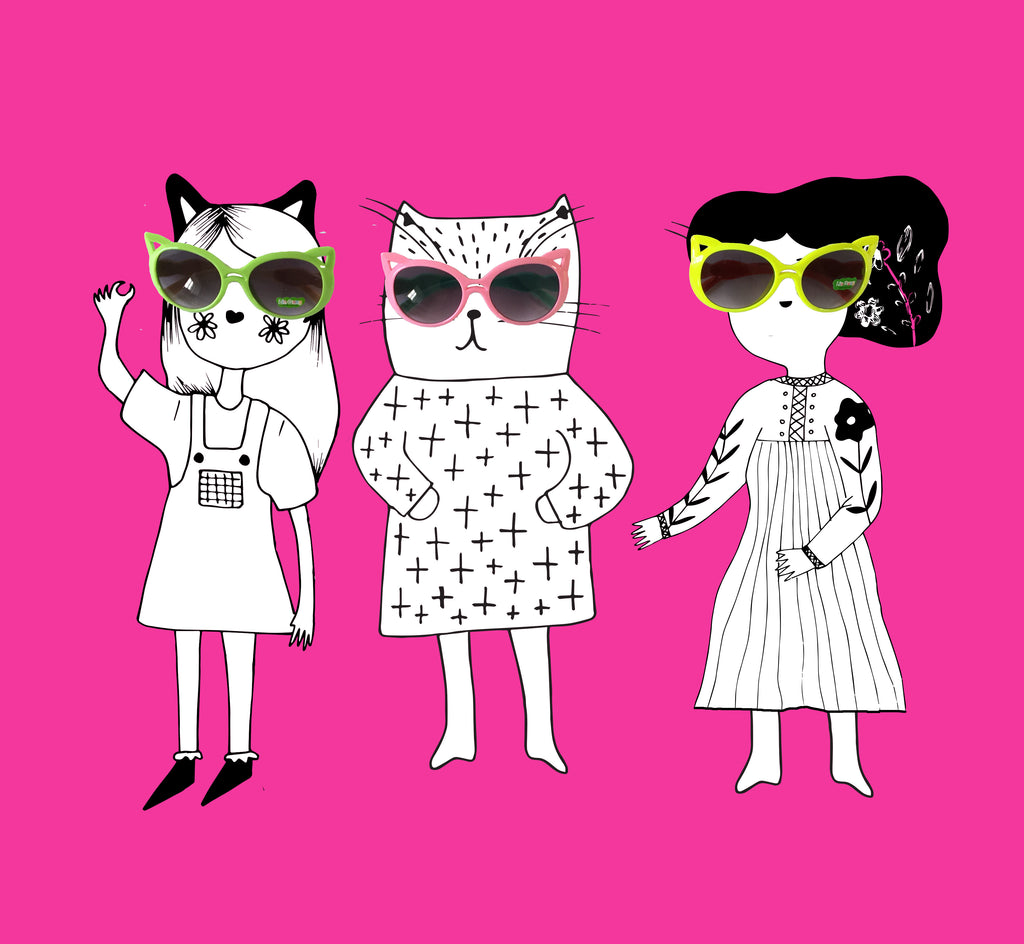 Cat Ear Sunglasses for kids sale at Little Citizens Boutique