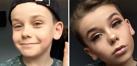 10 year old does amazing make up